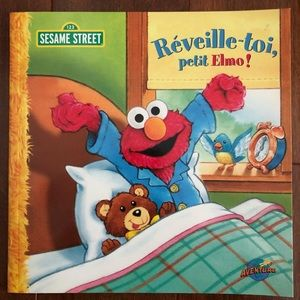 NWT 3/$25 French Kids Books Sesame Street Elmo